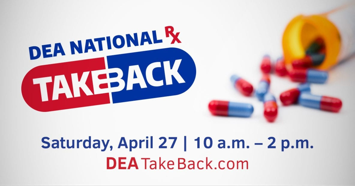 National Prescription Drug Take Back Day takes place this Saturday